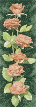 Heritage Crafts HC0892 John Clayton ~ Flower Panels ~ Peach Roses