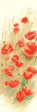 Heritage Crafts HC0901 John Clayton ~ Flower Panels ~ Wild Poppies