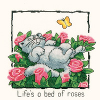 Heritage Crafts HC0912 Peter Underhill ~ Cats Rule ~ Life Is A Bed Of Roses