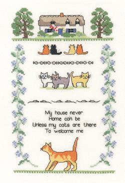 Heritage Crafts HC1004 Susan Ryder ~ Heritage Collection ~ Cat Sampler