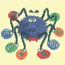 Heritage Crafts  HC1188 Karen Carter ~ Cross Stitch Critters ~ Spider