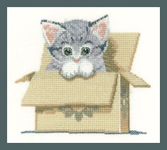 Heritage Crafts  HC1249 Peter Underhill ~ Little Darlings ~ Cat In Box