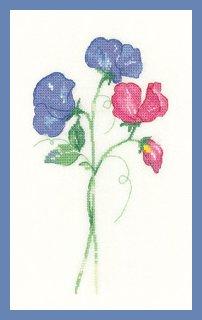 Heritage Crafts  HC1253 Sue Hill ~ Flowers ~ Sweet Peas