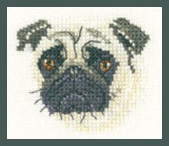 Heritage Crafts  HC1274 Valerie Pfeiffer ~ Little Friends ~ Pug