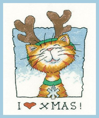 Heritage Crafts  HC1275 Peter Underhill ~ Cats Rule ~ I Love Christmas