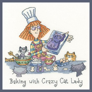Heritage Crafts HC1298 Peter Underhill ~ Cats Rule ~ Baking With Crazy Cat Lady
