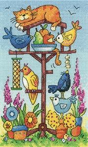 Heritage Crafts HC1361 Karen Carter ~ Birds of a Feather  ~ Bird Table