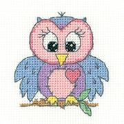 Heritage Crafts Kits HCK1327A Juniors +  ~ Owl ~ 14 Count Aida