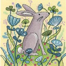 Heritage Crafts Kits HCK1328 Karen Carter ~ Woodland Creature ~ Hare ~ 27 Count Evenweave