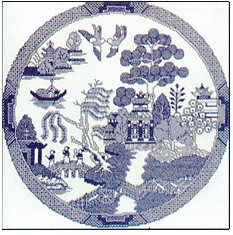 Heritage Crafts Kits HCK0008 Susan Ryder ~ Heritage Collection ~ Willow Pattern