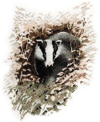 Heritage Crafts Kits HCK0296 John Stubbs ~ Wildlife Collection ~ Badger