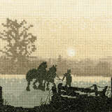 Heritage Crafts Kits HCK0328 Phil Smith ~ Silhouettes ~ Off To Plough