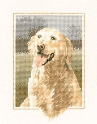 Heritage Crafts Kits HCK0419 John Stubbs ~ Dog Collection ~ Golden Retreiver