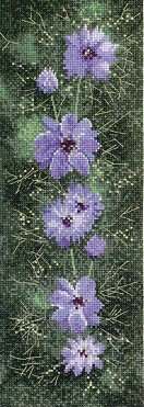 Heritage Crafts Kits HCK0474 John Clayton ~ Flower Panels ~ Love In A Mist