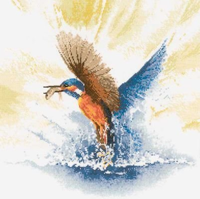 Heritage Crafts Kits HCK0482 John Clayton ~ Flights Of Fancy ~ Kingfisher In Flight