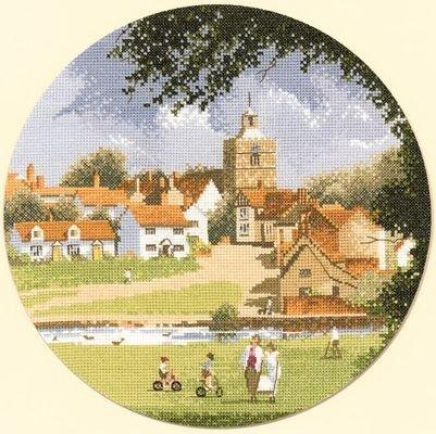 Heritage Crafts Kits HCK0508 John Clayton ~ Circles ~ Autumn Sleepy Village