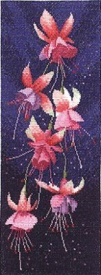 Heritage Crafts Kits HCK0535 John Clayton ~ Flower Panels ~ Fuchsia