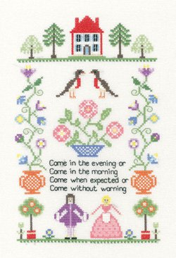 Heritage Crafts Kits HCK0638 Susan Ryder ~ Heritage Collection ~ Welcome Sampler