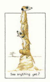Heritage Crafts Kits HCK0640 Peter Underhill ~ Meerkats ~ See Anything Yet