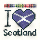 Heritage Crafts Kits HCK0641 Aida Mini Kit ~ I Love Scotland