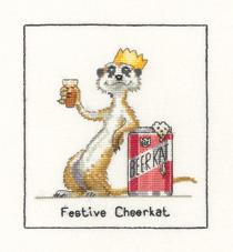 Heritage Crafts Kits HCK0644 Peter Underhill ~ Meerkats ~ Festive Cheerkat