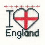 Heritage Crafts Kits HCK0647 Aida Mini Kit ~ I Love England