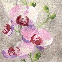 Heritage Crafts Kits HCK0688 Aida John Clayton ~ Mini Flowers ~ Mini Orchids