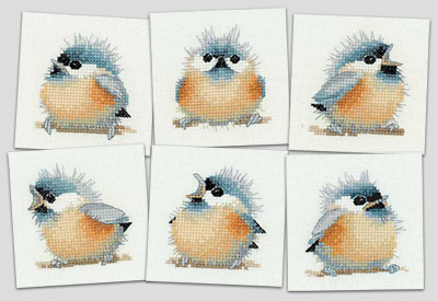 Heritage Crafts Kits HCK695 Valerie Pfeiffer ~ Little Friends ~ Chick Square Coasters ~ 14 Count Aida