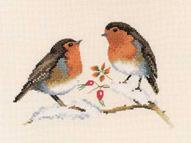 Heritage Crafts Kits HCK0697 Valerie Pfeiffer ~ Harmonies ~ Winter Robins