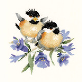 Heritage Crafts Kits HCK0776 Valerie Pfeiffer ~ Chickadees ~ Bluebell Chick Chat