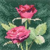 Heritage Crafts Kits HCK0881 Aida John Clayton ~ Mini Flowers ~ Mini Pink Roses