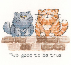 Heritage Crafts Kits HCK0887 Peter Underhill ~ Cats Rule ~ Two Good To Be True