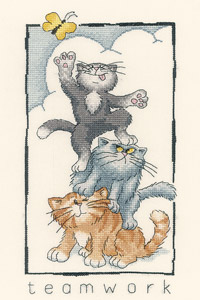 Heritage Crafts Kits HCK0896 Peter Underhill ~ Cats Rule ~ Teamwork