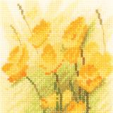 Heritage Crafts Kits HCK0904 Aida John Clayton ~ Mini Flowers ~ Mini Buttercups