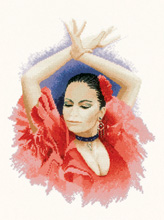 Heritage Crafts Kits HCK0908 John Clayton ~ Precious Memories ~ Flamenco Dancer