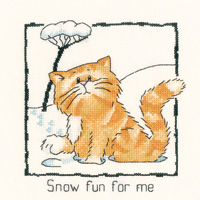 Heritage Crafts Kits HCK0914 Peter Underhill ~ Cats Rule ~ Snow Fun For Me