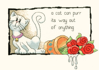 Heritage Crafts Kits HCK0916 Peter Underhill ~ Cats Rule ~ A Cat Can Purr Its Way Out Of Anything