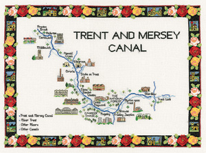 Heritage Crafts Kits HCK0949 Susan Ryder ~ Heritage Collection ~ Trent & Mersey Canal