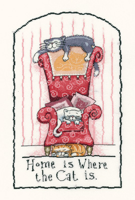 Heritage Crafts Kits HCK0954 Peter Underhill ~ Cats Rule ~ Home Is Where the Cat Is
