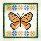 Heritage Crafts Kits HCK0955 Aida Mini Kit ~ Amber Butterfly