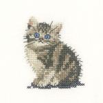 Heritage Crafts Kits HCK1024 Valerie Pfeiffer ~ Little Friends ~ Tabby Kitten