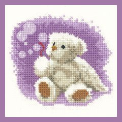 Heritage Crafts Kits HCK1032 John Clayton ~ Thread Bears ~ Bubbles ~ 27 Count Evenweave