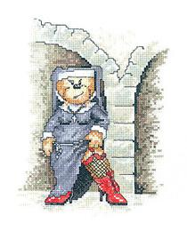 Heritage Crafts Kits HCK1041 Peter Underhill ~ Bad Taste Bears ~ Naughty Nun