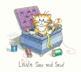 Heritage Crafts Kits HCK1049 Peter Underhill ~ Cats Rule ~ Little Sew & Sew