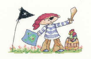 Heritage Crafts Kits HCK1050 Claire Pulsford ~ Little Stars ~ Little Pirate