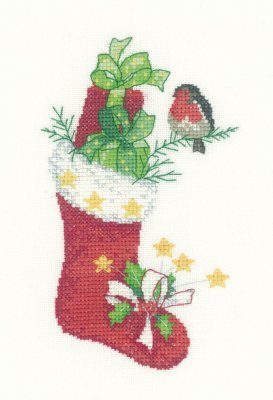 Heritage Crafts Kits HCK1105 Sue Hill Collection ~ Christmas Stocking