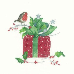 Heritage Crafts Kits HCK1106 Sue Hill Collection ~ Christmas Gift ~ 27 Count Evenweave