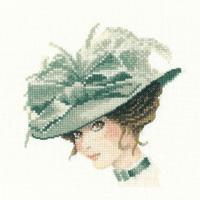 Heritage Crafts Kits  HCK1128 John Clayton ~ Miniature Elegance ~ Charlotte ~ 27 Count Evenweave