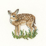 Heritage Crafts Kits HCK1141 Valerie Pfeiffer ~ Little Friends ~ Fawn ~ 27 Count Evenweave