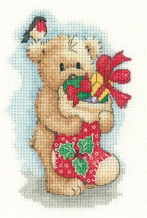 Heritage Crafts Kits HCK1146A Sue Hill Collection ~ Christmas Toffee ~ 14 Count Aida